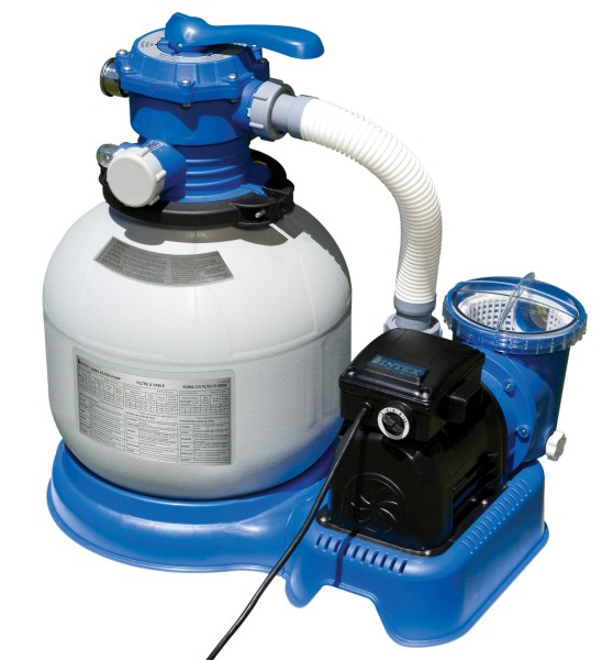 Intex 1600 GPH Filter Pump and Salt Water System