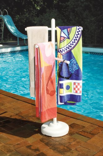 PVC Poolside Towel Rack
