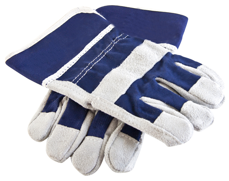 Kid's Real Leather Work Gloves
