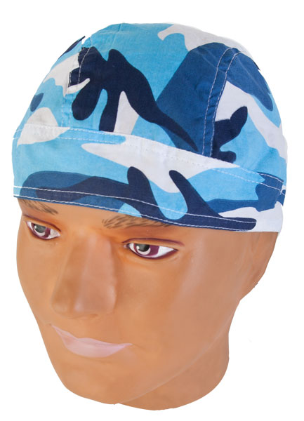 Blue Camouflage Skull Caps