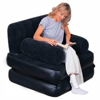 Inflatable Flocked Chair