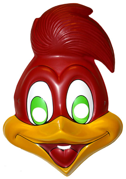 woody woodpecker pvc costume mask