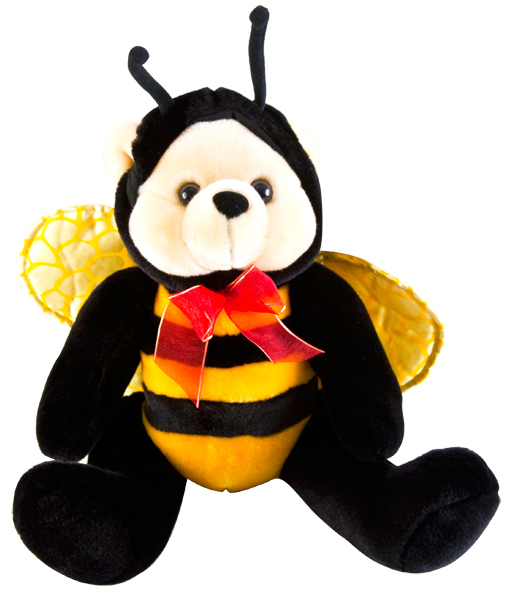 Stuffed Bumble Bee Teddy Bear