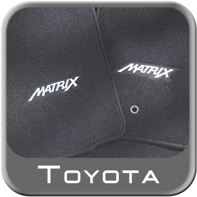 2003 2008 toyota matrix floor mats carpeted 4 piece set gray. Black Bedroom Furniture Sets. Home Design Ideas
