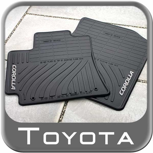 2009 2013 toyota corolla rubber floor mats all weather black. Black Bedroom Furniture Sets. Home Design Ideas