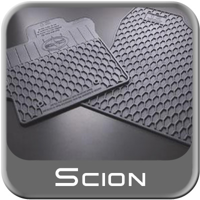 2011 2013 scion tc rubber floor mats all weather charcoal. Black Bedroom Furniture Sets. Home Design Ideas