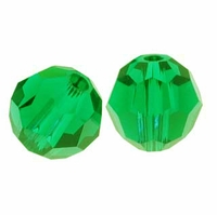 Majestic Crystal® Green10mm Faceted Round Crystal Beads (12PK)