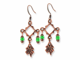 Antique Copper St. Patrick's Day Earring Design