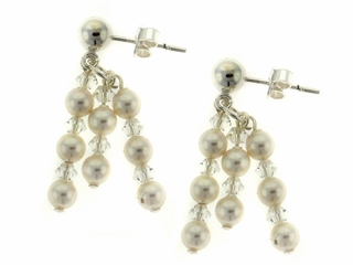 Classic Pearl and Crystal Earrings