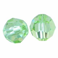 Majestic Crystal® Peridot 10mm Faceted Round Crystal Beads (12PK)