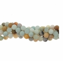 Amazonite w/Matrix 4mm Round Bead 16 Inch Strand