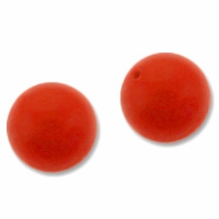 10mm Red Coral Swarovski 5810 Crystal Pearls (1PC)