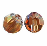 Majestic Crystal® Smokey Topaz AB 4mm Faceted Round Crystal Beads (50PK)