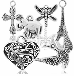 Silver Plated Charms & Pendants