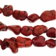 Red Turquoise 12-18mm Nugget Bead Chips 16 Inch Strand.
