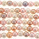 Large Hole 9-10mm Natural Multi-Color Pearls 8 Inch Strand