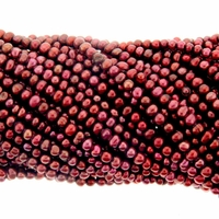 Cranberry 2.5-3mm  Freshwater Potato Pearl Strand