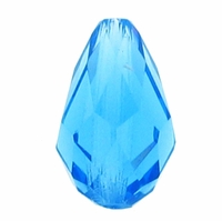 Majestic Crystal® Tear Drop Aquamarine 11x8mm Faceted Crystal Beads (12PK)
