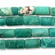 Blue-Green Turquoise Howlite 20x12mm Rectangular Beads 15 Inch Strand