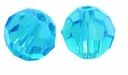 Majestic Crystal® Aquamarine 4mm Faceted Round Crystal Beads (50PK)