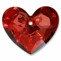 28mm Crystal Red Magma Shadow Swarovski Truly in Love Heart