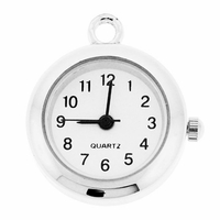 Silver Plated Plain Watch Face Pendant