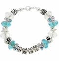 Baby Shower Blue Beadable Bracelet Idea