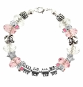 Baby Shower Pink Girl Beadable Bracelet Idea