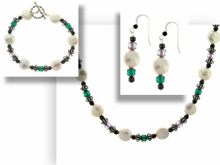 Crown Pearl Jewelry Set