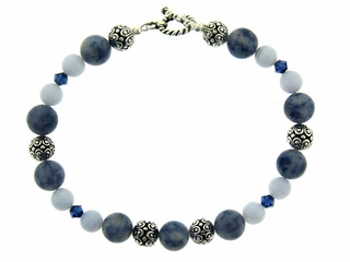 Denim and Lace Bracelet