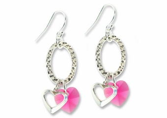 Double Hearts Earring Design