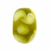 13mm Jonquil and Olivine Rondel Lampwork Beads (5PK)
