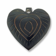 35mm Carved Heart Horn Pendant