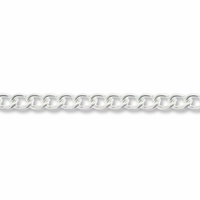 Silver Plated 5x3mm Curb Chain (1FT)