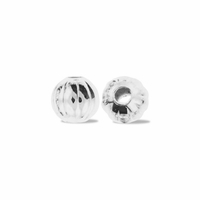 3mm Silver Plated Corrugated Round (20PK)