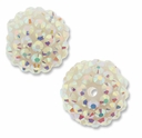 18mm 2XAB Rhinestone White Resin Bead (2PK)