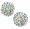 18mm 2XAB Rhinestone Clear Resin Bead (2PK)