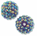18mm 2XAB Rhinestone Purple Resin Bead (2PK)