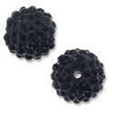 18mm Jet Rhinestone Jet Resin Bead (2PK)
