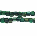 Green 8x6mm Natural Nugget Mother of Pearl  Beads 16 Inch Strand