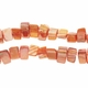 Orange 8x6mm Natural Nugget Mother of Pearl  Beads 16 Inch Strand