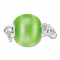 Green Cats Eye Bead Clasp (1PC)
