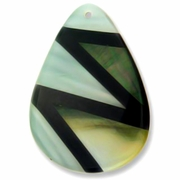 60mm x 45mm Teardrop MOP Shell Pendant
