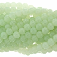 8mm Aventurine Round Glass Beads 16 inch Strand