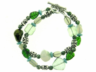 Enchanted Forest Multi Strand Bracelet