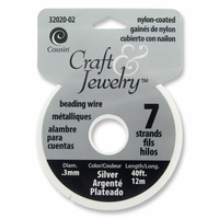 Silver 7 Strand .30mm Diameter 40ft Beading Wire