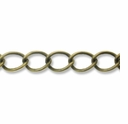 Antique Bronze Plated 5x6mm Curb Chain (1FT)