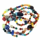 Bead Mix Glass Multicolored, Multi-shapes 50 Inch Strand