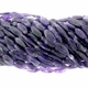 Amethyst Quartz 10x25mm Faceted Oval Beads 16 inch Strand