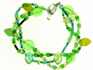 Meadow Green Multi Strand Bracelet